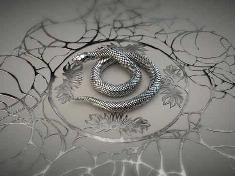 3D, разное, макет.змея, рендеринг
