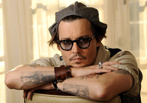 glasses, view, tattoo, actor, cap