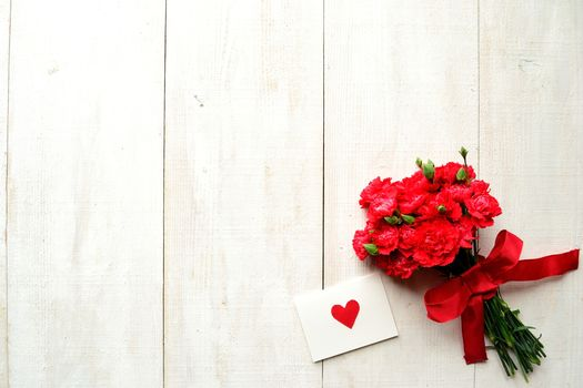 Valentine, bow, holiday, Clove, heart, card, Flowers, tape