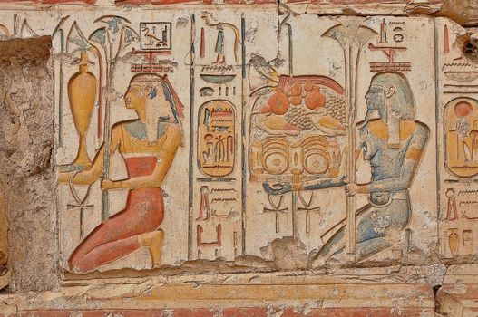 antiquity, wall, style, Egypt