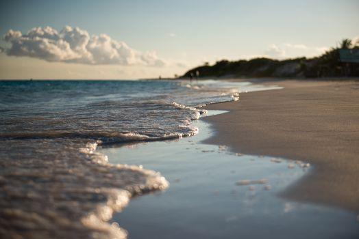 песок, прибой, весна, макро