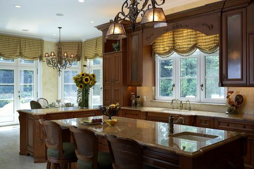 furniture, interior, suite, style, Sunflowers, home, kitchen, table