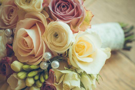 букет, свадебный, цветы, розы