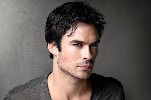 Ian Somerhalder, actor, TV series, Damon Salvatore, The Vampire Diaries, man, Gray, brunet, background