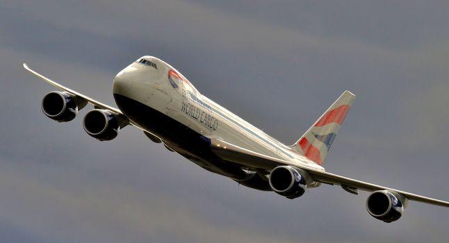 double-deck, Passenger, plane, sky, widebody