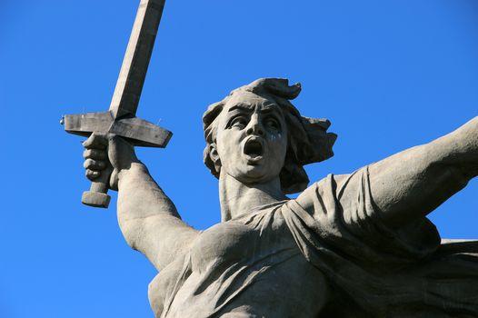 Sculpture Motherland Calls!, Mamaev Kurgan, 1967, Volgograd, sculptor EV Vuchetich, 85 meters.