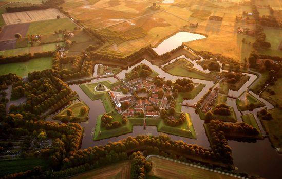 деревня, Буртанж, Bourtange, Netherlands
