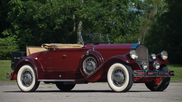 classic, car, nostalgia, 1930_Pierce_Arrow_Model_B_Roadster