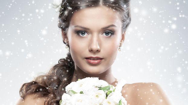 girl, skin, beautiful, flower
