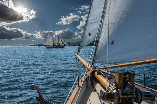 Portland, Maine, Casco Bay, Portland, Maine, Casco Bay, sailfish, schooner, sail, bay