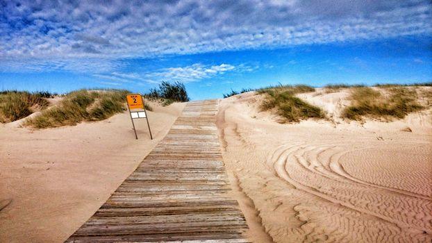 road, sea, beach, sunny, blue, sky, grass