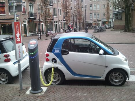 Electric, Smart, small, Other brands, white, charging, electricity, Amsterdam