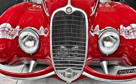 Alfa Romeo, red, LIGHTS, grill
