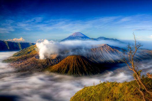 Mt. Bromo, Indonesia, volcano, landscape