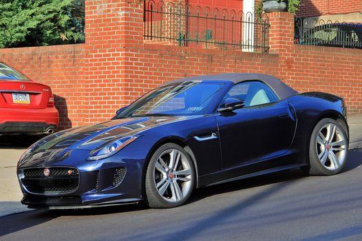 Jaguar F-Type Roadster, Jaguar, Roadster, Sports car, road, street