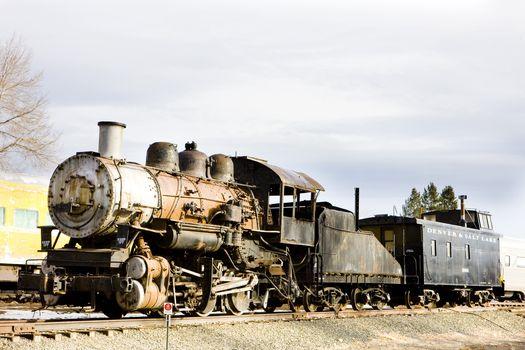 Steam, locomotive, Colorado Railroad Museum, USA