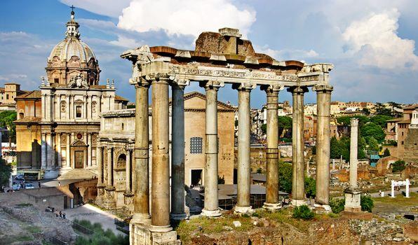 Roman Forum, Roma, Italy, vintage