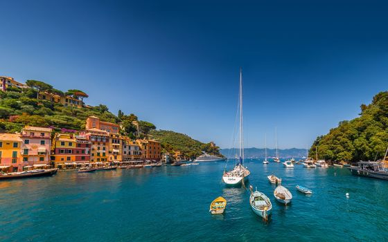 Portofino, Liguria, Italy, Ligurian Sea, Portofino, Liguria, Italy, Ligurian Sea, sea, harbor, Yacht, Boat, building