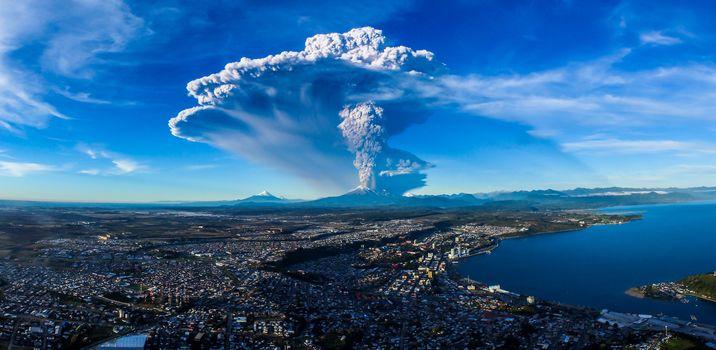 Calbuco Volcan, Chile, пейзаж