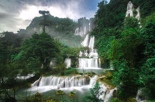 Thi Lo Su Waterfall, Thailand, Thi Lo Su waterfall, thailand, waterfall, cascade, trees