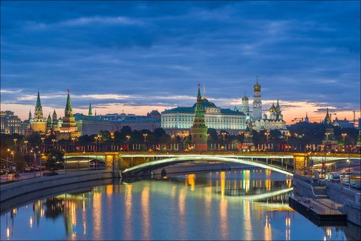 Russia, Moscow, Kremlin and Big Stone bridge, Москва, кремль, Россия
