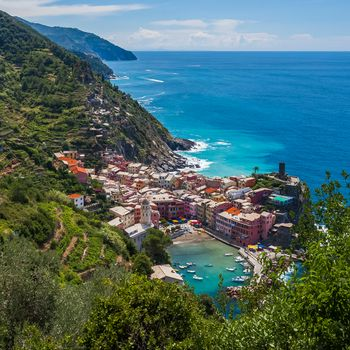 Vernazza, Cinque Terre, Liguria, Italy, Ligurian Sea, Vernazza, Cinque Terre, Liguria, Italy, Ligurian Sea, sea, coast, bay, Boat, building