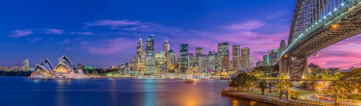 Sydney, Australia, город, панорама