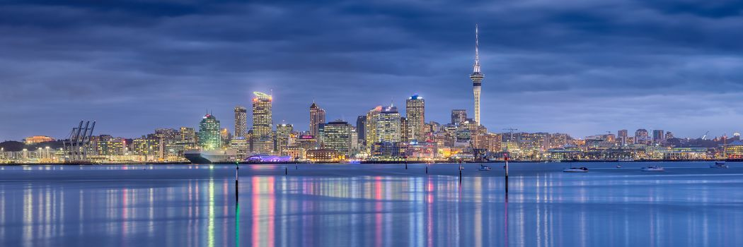 Auckland, New Zealand, city, panorama
