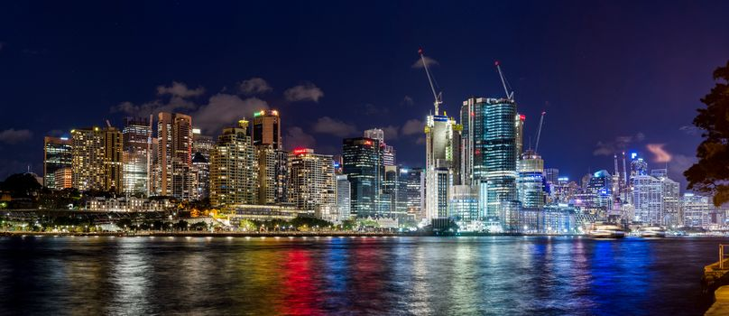 Sydney, australia, city, night, Pano
