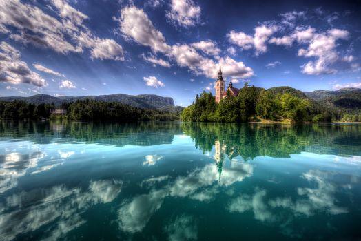 Bled Island, Slovenia, landscape