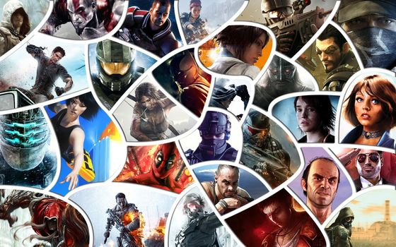 Assasins Creed, Tomb Raider, warface, mass effect, Remember Me, Far Cry, Dead Spaces, Crysis, Bioshock, gta, Devil May Cry, Battlefield 4, stalker, Skyrim, Mirrors Edge, Halo, titanfall, Batman, watch dogs, Metal Gear Rising: Revengeanc