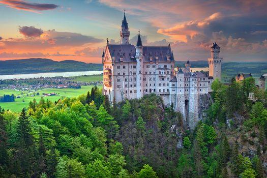 Neuschwanstein Castle, Bavaria, Germany, Neuschwanstein Castle, Bayern, Germany