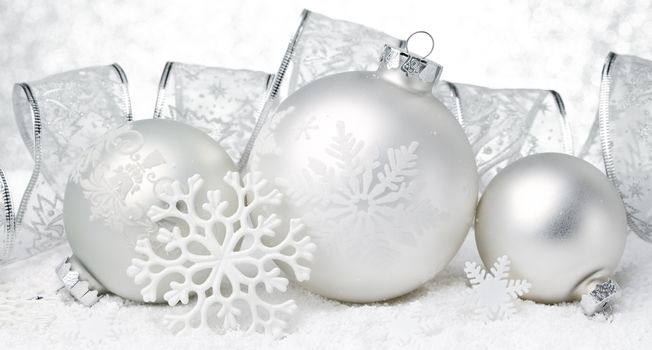 New Year, Christmas, Christmas decorations, Balls, ornamentation, white, light, holiday, handsomely