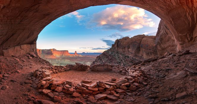 False Kiva, Canyonlands, горы, скалы, пейзаж