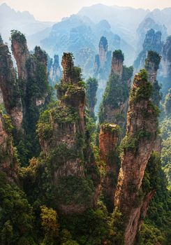 горы, природа, пейзаж, как на Пандоре из Аватара, красота