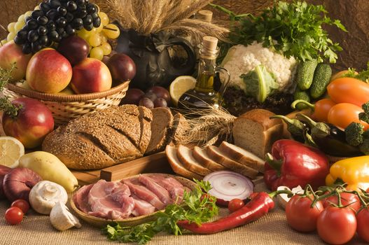стол, продукты, еда