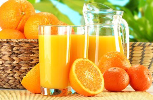коктейли, напитки, апельсин