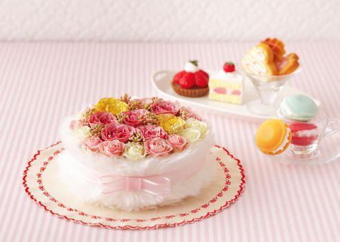 holidays, holiday, Flowers, cake, Valentine