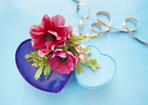 holidays, holiday, Flowers, hearts, Valentine