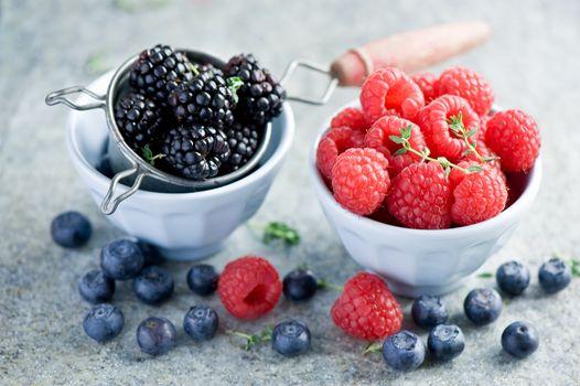 BERRY, raspberries, blueberries, blackberry, food