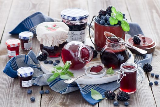 Jam, jam, sweet, food, BERRY, cans