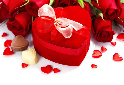 holiday, Valentine, heart, Roses, Flowers, gift, box