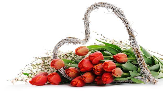 holiday, Valentine, heart, TULIPS, Flowers