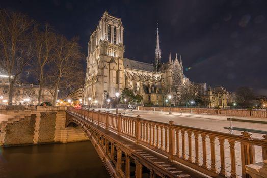 Notre Dame Cathedral, Notre-Dame de Paris, Paris, France, Paris, France