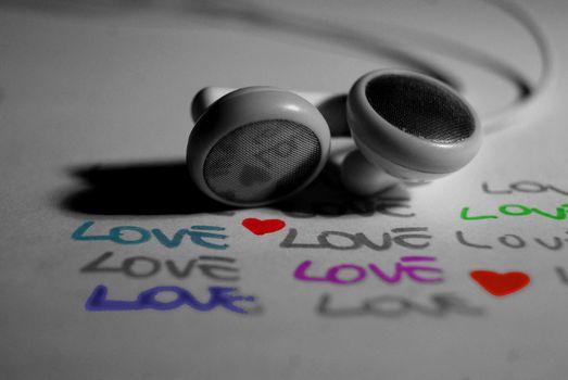 Personas by Kisenok, Valentine, Valentine's Day, holiday, heart, hearts, Heart, headphones, love