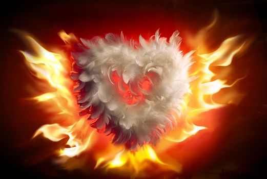 Personas by Kisenok, Valentine, Valentine's Day, holiday, heart, hearts, Heart, fire