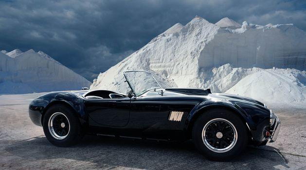 AC Shelby Cobra, Roadster, Sports car, black
