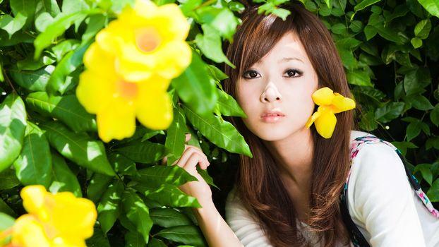 Kisenok рулит, девушка, девушки, азиатка, азиатки, природа, красотка, красавица
