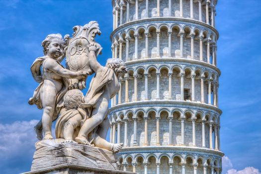Leaning Tower of Pisa, Pisa, Italy, Пизанская башня, Пиза, Италия, башня, скульптура