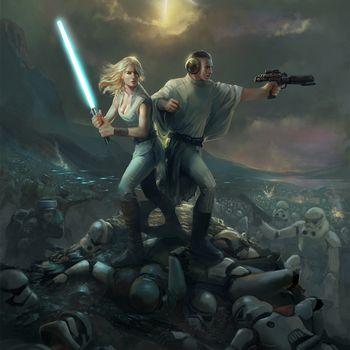 Guilano Brocani, star wars, Lucy Skywalker, Prince Leio, Stormtroopers, star wars, fan art